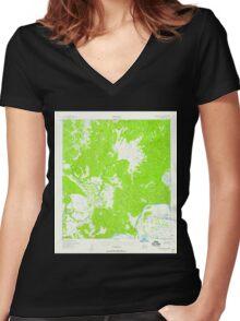 USGS TOPO Map Alaska AK Unalakleet A-1 360160 1952 63360 Women's Fitted V-Neck T-Shirt