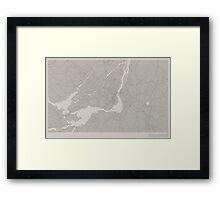 Minimal Maps - Montreal - Light Framed Print