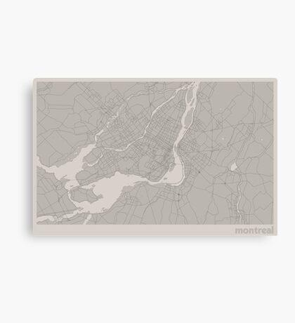 Minimal Maps - Montreal - Light Canvas Print