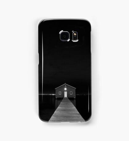 Crawley Edge Boat Shed at Night Samsung Galaxy Case/Skin