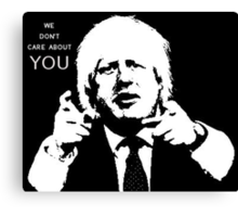 Boris Johnson says what he thinks Canvas Print
