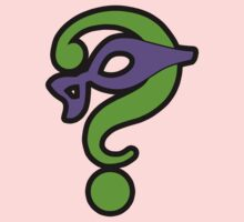 The Riddler  (Purple Question Mark and Mask) - Batman Kids Tee