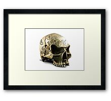 Witchcraft Skull Framed Print