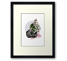 Vintage Flower Power Print Framed Print