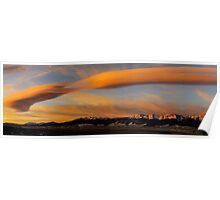 Sunrise On Lenticular Clouds Poster