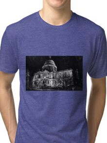 St. Paul's Cathedral, London, at Night Tri-blend T-Shirt