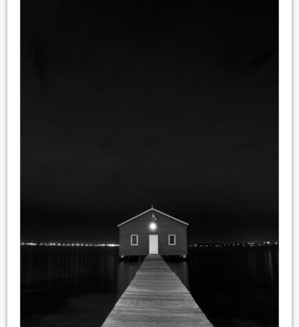 Crawley Edge Boat Shed at Night Sticker