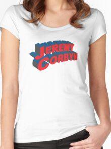 Jeremy Corbyn Women's Fitted Scoop T-Shirt