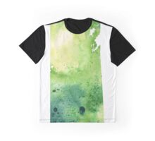 Watercolor Map of Saskatchewan, Canada in Green - Giclee Print of My Own Watercolor Painting Graphic T-Shirt