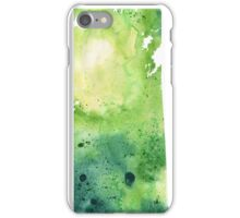Watercolor Map of Saskatchewan, Canada in Green - Giclee Print of My Own Watercolor Painting iPhone Case/Skin