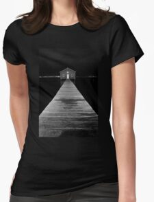 Boat Shed at Night Womens Fitted T-Shirt