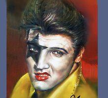 Super Star - Elvis Presley, Star Child makeup illustration case  by Harry  Huang