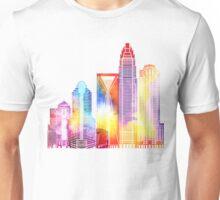 Charlotte landmarks watercolor poster Unisex T-Shirt