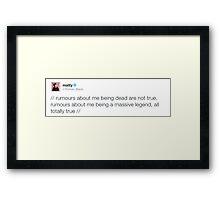 Matty Healy Legendary Tweet Framed Print