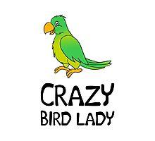 Crazy Bird Lady Photographic Print