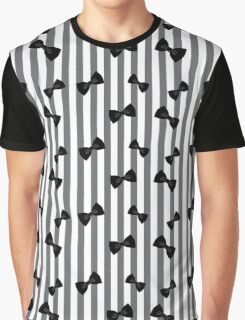 Classy Bow - Black & White Graphic T-Shirt