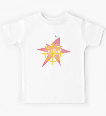 Funny Starfish at the Helm Kids Tee