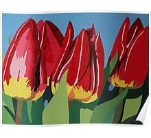 Red & Yellow Tulips Poster