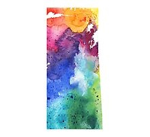 Watercolor Map of Saskatchewan, Canada in Rainbow Colors - Giclee Print  Photographic Print