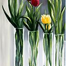 Tulips in the window by Antionette