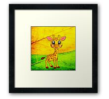 Kawaii giraffe Framed Print