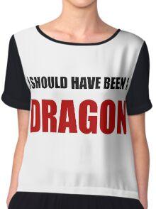 Should Have Been Dragon Chiffon Top