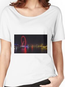 River Thames View at Night Women's Relaxed Fit T-Shirt