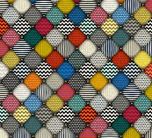 buttoned patches by Sharon Turner