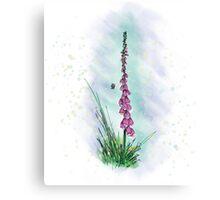 Foxglove Love Canvas Print