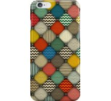 buttoned patches retro iPhone Case/Skin
