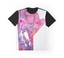 Watercolor Map of Manitoba, Canada in Pink and Purple - Giclee Print of My Own Watercolor Painting Graphic T-Shirt
