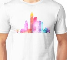 Los Angeles landmarks watercolor poster Unisex T-Shirt