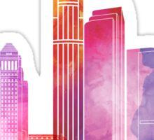 Los Angeles landmarks watercolor poster Sticker