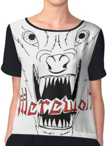 Face of the Werewolf Chiffon Top