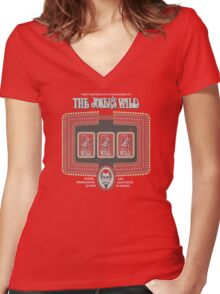 Joker's Wild Women's Fitted V-Neck T-Shirt