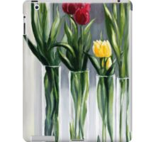 Tulips in the window iPad Case/Skin
