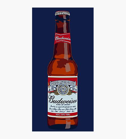 Budweiser Bottle Photographic Print