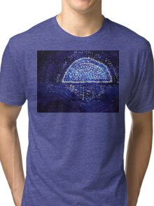 Blue Moonrise original painting Tri-blend T-Shirt