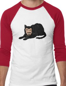 Vlad the Cat (Green) Men's Baseball ¾ T-Shirt