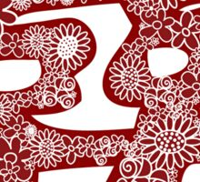 Chinese Wedding Red Double Happiness Symbol Floral Papercut Sticker