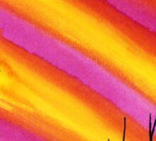 Skyline Sunset Sticker