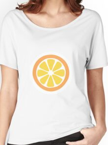 Orange Slices Pattern in Lime Green Women's Relaxed Fit T-Shirt