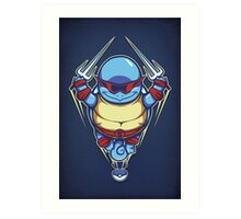 Ninja Squirtle - Print Art Print