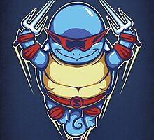Ninja Squirtle - Print by TrulyEpic