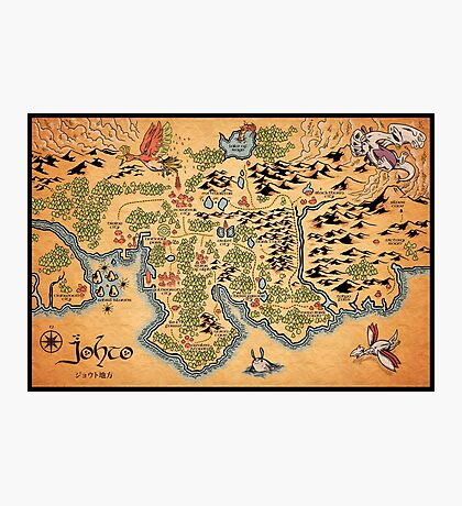 Johto Map Photographic Print