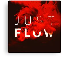 JUST FLOW red Canvas Print
