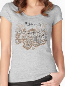 Johto Map Women's Fitted Scoop T-Shirt