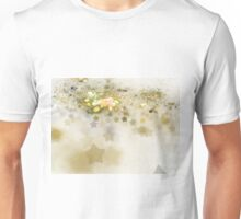 Golden Stars - Abstract Fractal Artwork Unisex T-Shirt