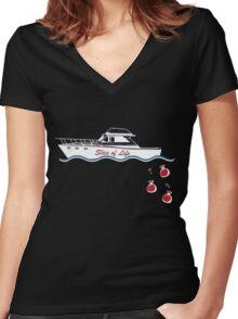Dexter Morgan Slice of life Women's Fitted V-Neck T-Shirt