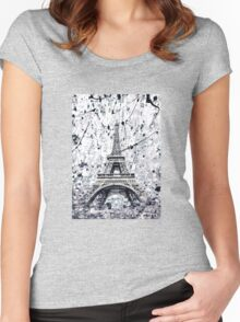 The Eiffel Tower Women's Fitted Scoop T-Shirt